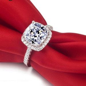 100% 925  Rings Wedding Engagement Cubic Zirconia